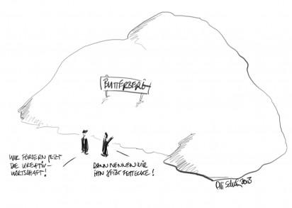 der kreative butterberg | cartoon | oliver schuh